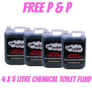 Special Offer – 4 x 5 litre Chemical Toilet Fluid including free* P & P
